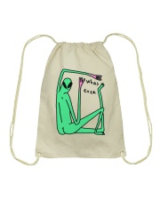 What Ever Funny Alien Drawstring Bag thumbnail