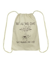 Not All Those Cows Are Lost Drawstring Bag thumbnail