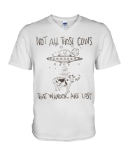 Not All Those Cows Are Lost V-Neck T-Shirt thumbnail