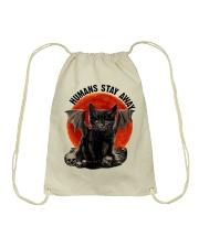 Humans Stay Away Drawstring Bag thumbnail