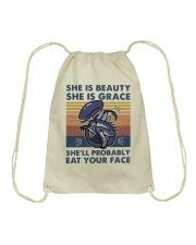 She Is Beauty Drawstring Bag thumbnail