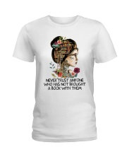 Never Trust Anyone Ladies T-Shirt tile