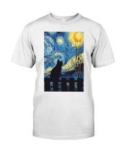 Cat Starry Night Art Poster Classic T-Shirt thumbnail