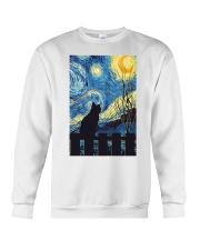 Cat Starry Night Art Poster Crewneck Sweatshirt thumbnail