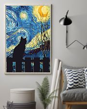 Cat Starry Night Art Poster 11x17 Poster lifestyle-poster-1