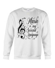 Music Is My Second Language Crewneck Sweatshirt thumbnail