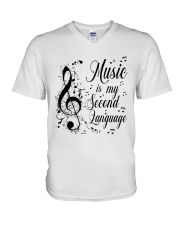 Music Is My Second Language V-Neck T-Shirt thumbnail