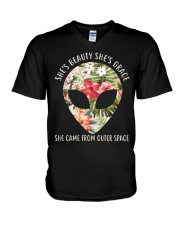 She Came From Outer Space V-Neck T-Shirt thumbnail