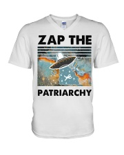 Zap The Patriarchy V-Neck T-Shirt thumbnail