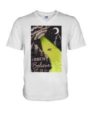 I Want To Believe V-Neck T-Shirt thumbnail