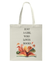 Just A Girl Who Loves Books Tote Bag thumbnail
