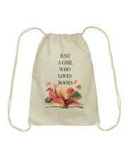 Just A Girl Who Loves Books Drawstring Bag thumbnail