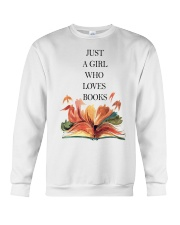 Just A Girl Who Loves Books Crewneck Sweatshirt thumbnail