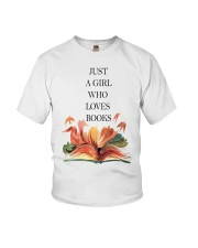 Just A Girl Who Loves Books Youth T-Shirt thumbnail