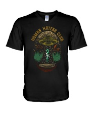 Human Haters Club V-Neck T-Shirt thumbnail