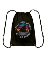Hello Sharkness My Old Friend Drawstring Bag thumbnail