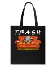 Trash Friend Raccoon Funny Tote Bag thumbnail