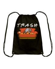 Trash Friend Raccoon Funny Drawstring Bag thumbnail