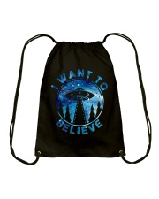 I Want To Believe Drawstring Bag thumbnail