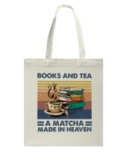 Books And Tea A Matcha Tote Bag thumbnail
