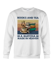 Books And Tea A Matcha Crewneck Sweatshirt thumbnail