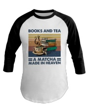 Books And Tea A Matcha Baseball Tee thumbnail
