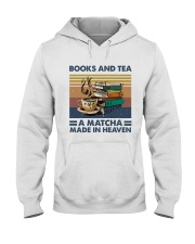 Books And Tea A Matcha Hooded Sweatshirt thumbnail