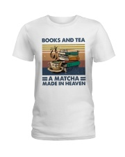 Books And Tea A Matcha Ladies T-Shirt thumbnail