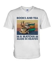 Books And Tea A Matcha V-Neck T-Shirt thumbnail