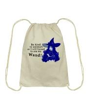 Be Kind To Animals Drawstring Bag thumbnail