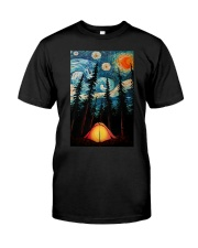 Camping Starry Night Art  Classic T-Shirt front
