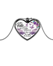 A Ma Fille Ne Oublie Jamais Que Je Te Aime Metallic Heart Necklace front