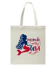 Mermaid USA Tote Bag thumbnail