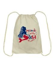 Mermaid USA Drawstring Bag thumbnail
