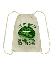 Its My Mouth Drawstring Bag thumbnail