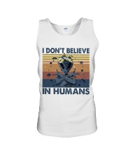 I Dont Believe In Humans Unisex Tank thumbnail