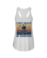 I Dont Believe In Humans Ladies Flowy Tank thumbnail