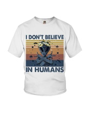 I Dont Believe In Humans Youth T-Shirt thumbnail