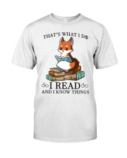 What I Do I Read Classic T-Shirt front