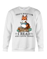 What I Do I Read Crewneck Sweatshirt thumbnail