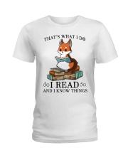 What I Do I Read Ladies T-Shirt thumbnail