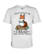 What I Do I Read V-Neck T-Shirt thumbnail