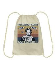 Talk About Aliens Drawstring Bag thumbnail