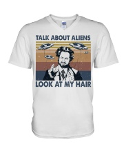 Talk About Aliens V-Neck T-Shirt thumbnail
