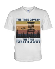 The Tree Giveth V-Neck T-Shirt thumbnail