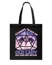 Assuming Old Lady Tote Bag thumbnail