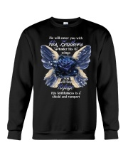 He Will Cover You With His Feathers Crewneck Sweatshirt thumbnail