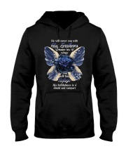 He Will Cover You With His Feathers Hooded Sweatshirt front