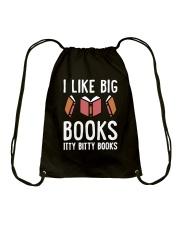 I Like Books Drawstring Bag thumbnail