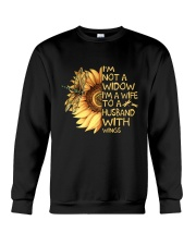 Im Not A Widow Im A Wife Crewneck Sweatshirt thumbnail